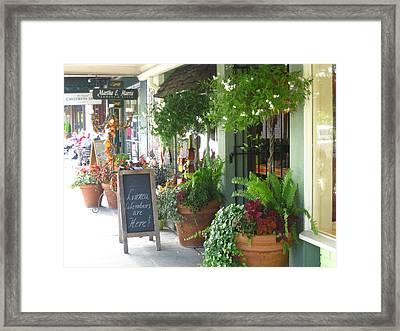 Madison Valley Street Scene 2 Framed Print