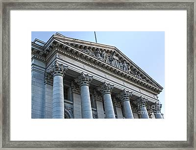 Madison Wisconsin Capitol Building - 06 Framed Print by Gregory Dyer