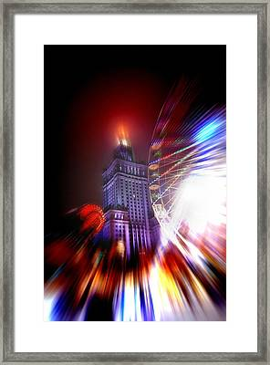 Madness Of The City Framed Print