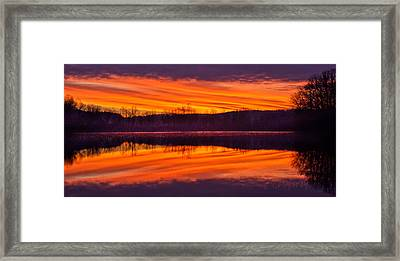 Framed Print featuring the photograph Madness On The Meade by Tom Cameron