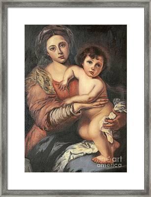 Madona And Child Framed Print