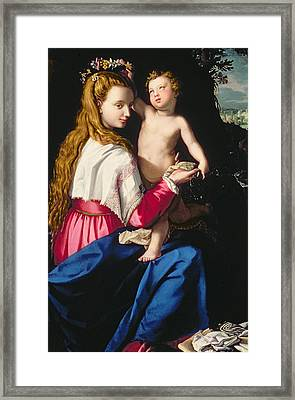 Madonna And Child Framed Print by Alessandro Allori