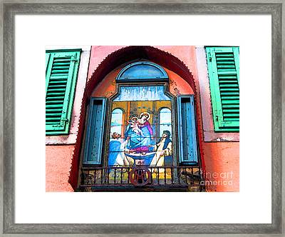 Madonna And Child Framed Print by Ann Johndro-Collins