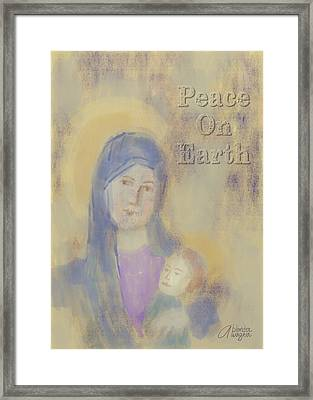 Framed Print featuring the digital art Madonna And Child by Arline Wagner