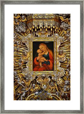 Madonna And Child By Lucas Cranach Framed Print