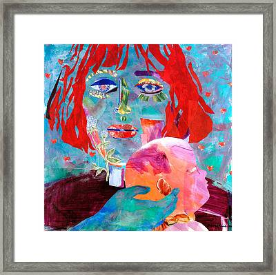Madonna And Child Framed Print by Diane Fine