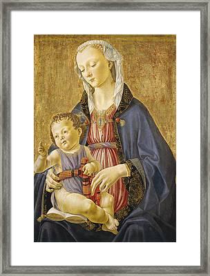 Madonna And Child Framed Print by Domenico Bigordi Domenico Ghirlandaio