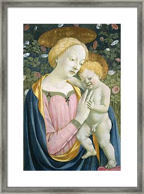 Madonna And Child Framed Print by Domenico Veneziano