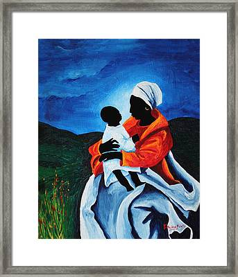 Madonna And Child First Words Framed Print by Patricia Brintle