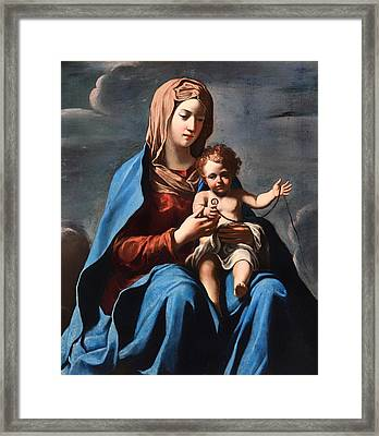Madonna And Child Framed Print by Mountain Dreams