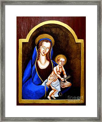 Madonna And Child Framed Print by Genevieve Esson