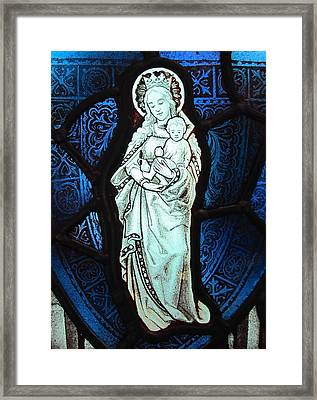 Madonna And Child Framed Print by Gilroy Stained Glass