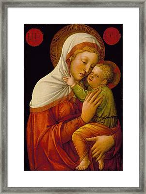 Madonna And Child Framed Print by Jacob Bellini