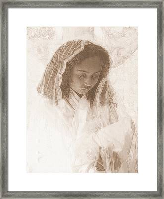 Framed Print featuring the photograph Madonna And Child by Jodie Marie Anne Richardson Traugott          aka jm-ART