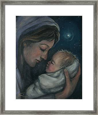 Madonna And Child Framed Print by Kim Marshall