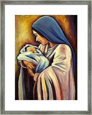 Madonna And Child Framed Print by Sheila Diemert