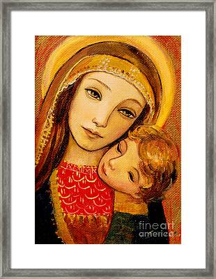 Madonna And Child Framed Print by Shijun Munns