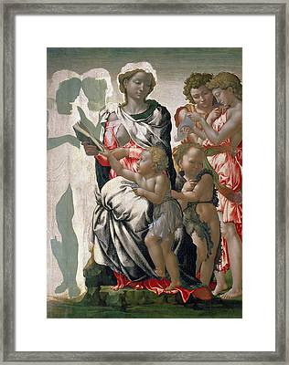 Madonna And Child With St John Framed Print