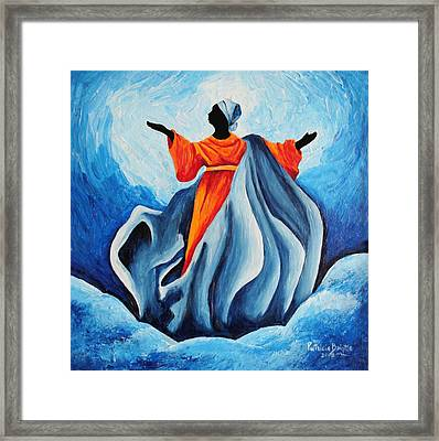 Madonna Assumption  Sanctissima Framed Print by Patricia Brintle