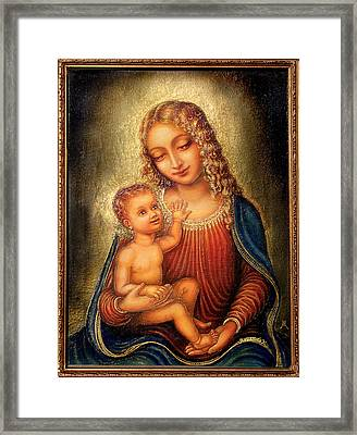 Madonna Beata Framed Print by Ananda Vdovic