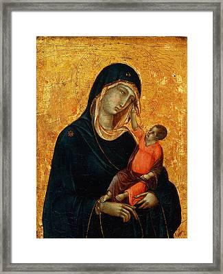 Madonna Col Bambino Sumela Monastery In Turkey Framed Print