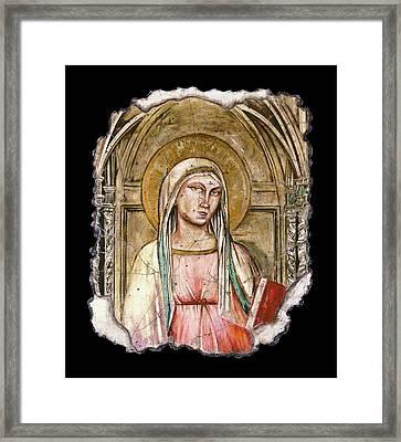 Madonna Del Parto Framed Print by Steve Bogdanoff