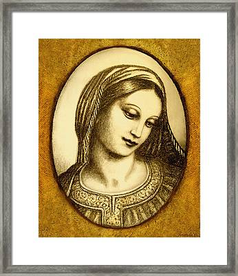 Madonna Face  Framed Print by Ananda Vdovic