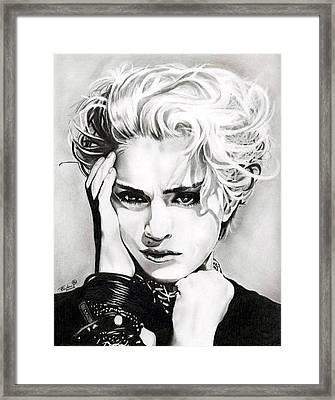 Madonna Framed Print by Fred Larucci