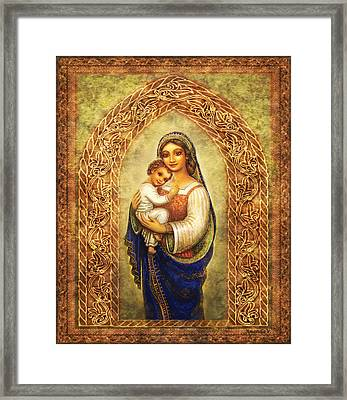Madonna In An Arch Framed Print by Ananda Vdovic