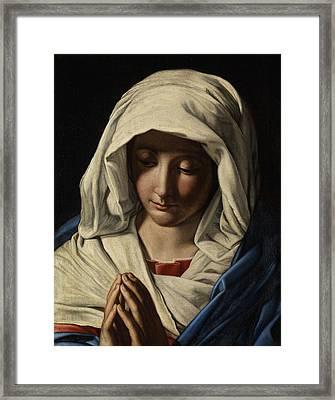 Madonna In Prayer Framed Print