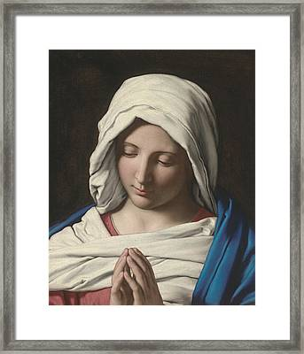 Madonna In Prayer Framed Print