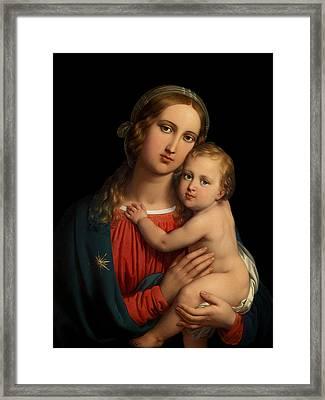 Framed Print featuring the digital art Madonna by Johann Ender