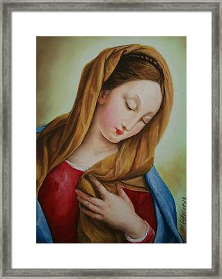 Madonna Framed Print by Marna Edwards Flavell