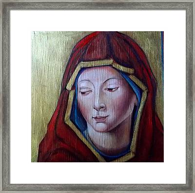 Framed Print featuring the painting Madonna Of Peace by Irena Mohr