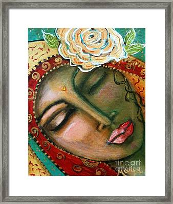 Madonna Of The First Breath Framed Print