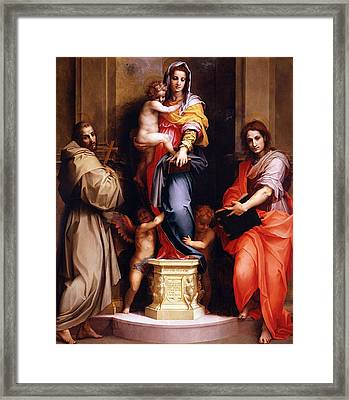 Madonna Of The Harpies Framed Print by Andrea del Sarto