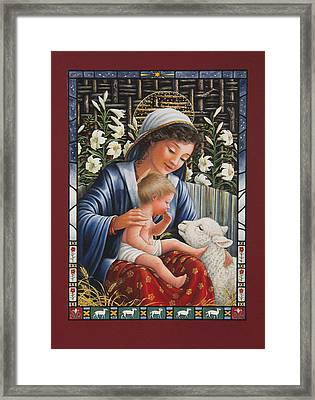Madonna Of The Lilies Framed Print by Lynn Bywaters