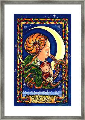 Madonna Of The Moon Framed Print by Sandra Paradise