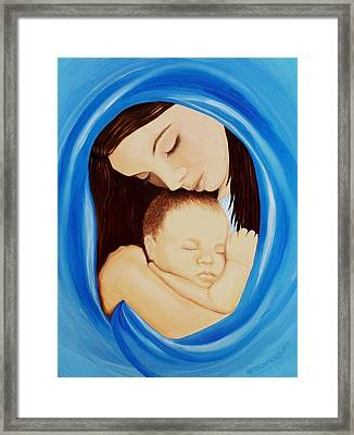 Madonna Of The Sea Framed Print by Sophia Schmierer