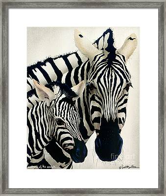 Madonna Of The Serengeti... Framed Print by Will Bullas
