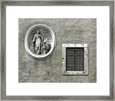 Madonna Of The Wall Framed Print by Jean Hall