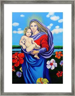 Madonna Rafaelina Framed Print by Kyra Belan