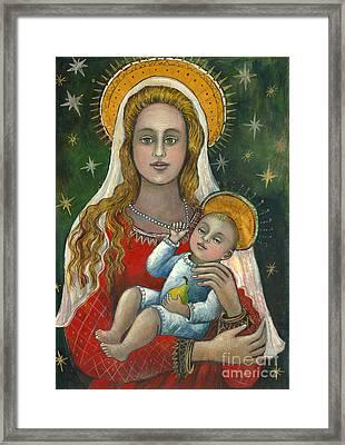 Madonna With Baby Jesus Framed Print by Vera Zales