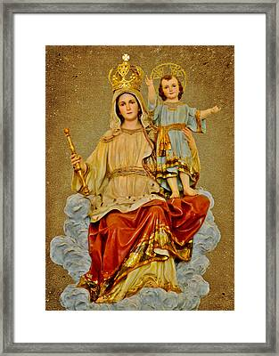 Madonna With Child Framed Print by Christine Till