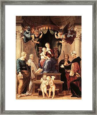 Madonna With The Baldachino Framed Print