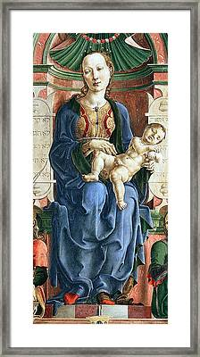 Madonna With The Child Enthroned Detail Framed Print by Cosme Tura