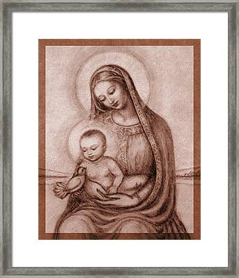 Madonna With The Dove Detail Framed Print by Ananda Vdovic