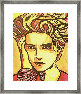 Madonna's Fire Framed Print by Lorinda Fore