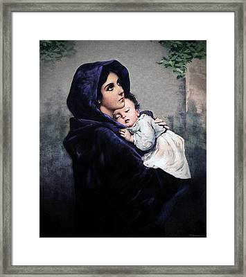 Framed Print featuring the painting Madonnina by A Samuel