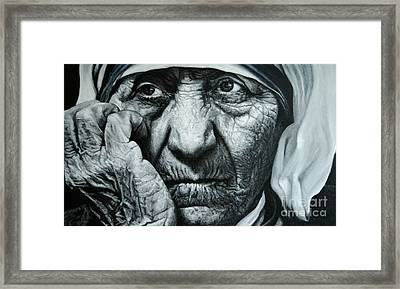Mother Teresa - Painting Framed Print by Stu Braks